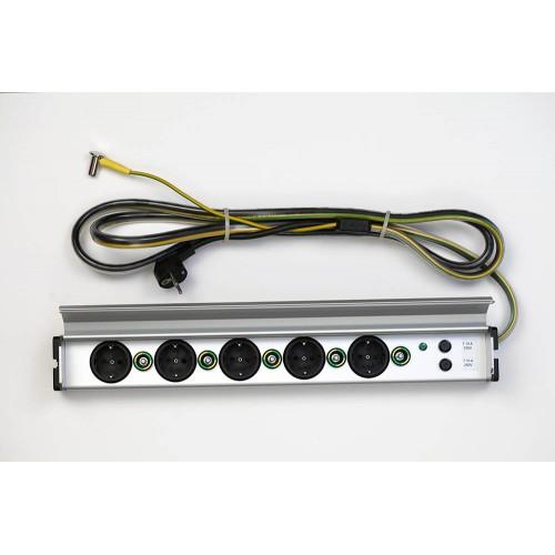 Potentiaalvereffeningskabel power distribution block 5 voudig